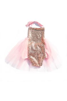 d7aaba07fd40 Le Flamingo Sparkle Romper - Peach and Gold with Peach Tutu   bellethreadspinterest  bellethreads Little