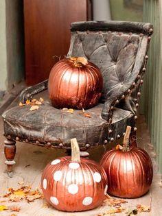 bronze pumpkins