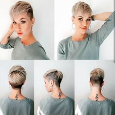 How to style the Pixie cut? Despite what we think of short cuts , it is possible to play with his hair and to style his Pixie cut as he pleases. Black Pixie Cut, Short Pixie, Short Hair Cuts, Short Hair Styles, Pixie Styles, Short Hair Undercut, Undercut Hairstyles, Hairstyles Haircuts, Pixie Haircuts