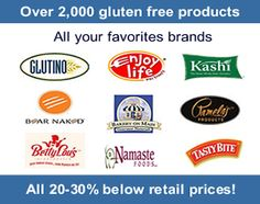 Gluten free foods products