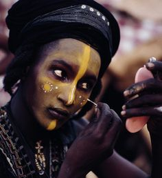 "The Wodaabe (Fula: Woɗaaɓe) or Bororo are a small subgroup of the Fulani ethnic group. In the Fula language, woɗa means ""taboo"", and Woɗaaɓe means ""people of the taboo""                                                                                                                                                                                 More"