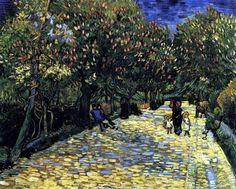 Van Gogh. Avenue with flowering Chesnut trees (1889)