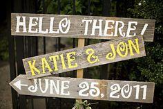 Wedding Signs on MARTHA STEWART Weddings. Reclaimed Wood Reception Decorations. Eco Wedding. Outdoor Wedding Decorations. Rustic Wedding. $90.00, via Etsy.