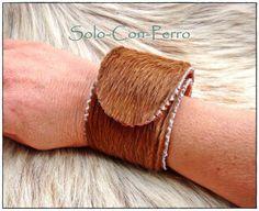° TRAMUNTANA No. 3 ° Klack-Armband Kuh Fell Leder  von °  Solo-Con-Perro ° auf DaWanda.com