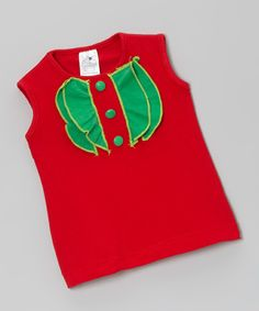Take a look at this Red & Green Ruffle Doll Dress on zulily today!