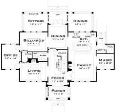Like the plan but would extend the porch all the way across the front of the house and change the siding to brick. Colonial House Plans, Traditional House Plans, House Floor Plans, Plans Architecture, Architecture Design, Colonial Architecture, Concrete Stairs, Home Buying Tips, Spanish Style Homes