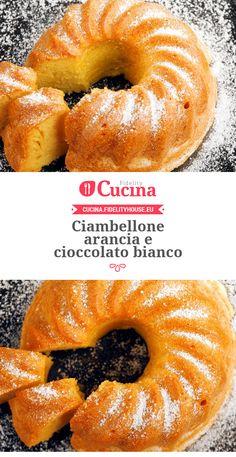 #Ciambellone #arancia e #cioccolato bianco