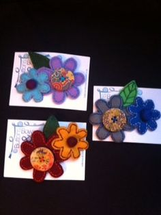 Handmade brooches by Sharonsbuttonsandbow on Etsy, £5.00