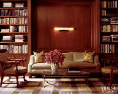 Traditional Office/Library by Jed Johnson Associates in New York, New York