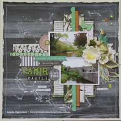 Papercrafting ideas: scrapbook layout idea. #papercraft #scrapbooking #layouts. Lou's World: Kaisercraft Limelight for All About Scrapbooks