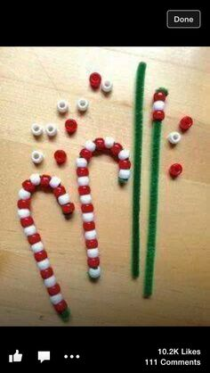Simple candy cane for kids craft