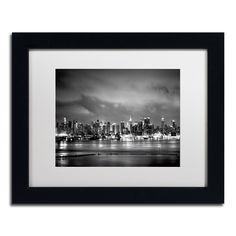 Preston 'New York Skyline' White Matte, Framed Wall Art