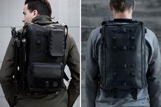 Black Ember Modular Urban Backpacks