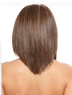 V Back Stylish Medium Cut Back View