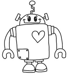 The Easy Robot Coloring Sheets Printable Pages Me Delia S Coloring Pages For Kids, Toddler And Kindergarten Colouring Pages, Free Coloring, Coloring Pages For Kids, Coloring Books, Robots Drawing, Robot Theme, Printable Pictures, Digi Stamps, Copics