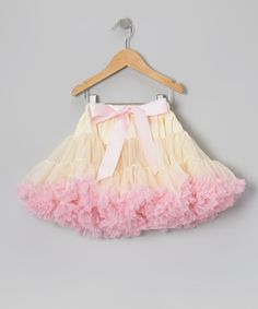 Take a look at this Light Pink & Ivory Petite Pettiskirt - Infant, Toddler & Girls on zulily today!
