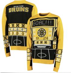 0e924980a Details about Klew NHL Men s Boston Bruins Patches Ugly Sweater
