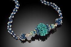 Aqua Beaded Bead Necklace