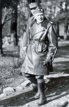 Gen. Stanislaw Maczek at camp Coëtquidan, France in November 1939. Photo in the  collection of the Museum of the Polish Army in Warsaw - pin by scann R