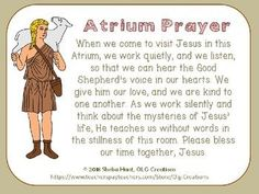 FREE Atrium Prayer for use with Catechesis of the Good Shepherd