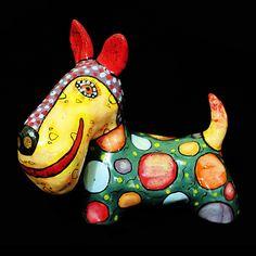 Ceramic dog, Scotch terrier,  dog figurines, terrier, schnauzer, ceramic figurine dog, dogs, statuette dog, sculpture dog, fox terrier by CeramicsGerasimenko on Etsy