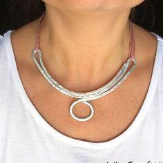2017-06-07-14-04-49 Aluminum Wire Jewelry, Copper Wire Jewelry, Chunky Jewelry, Silver Jewelry, Bijoux Wire Wrap, Wire Wrapped Jewelry, Bijoux Fil Aluminium, Do It Yourself Jewelry, Diy Necklace