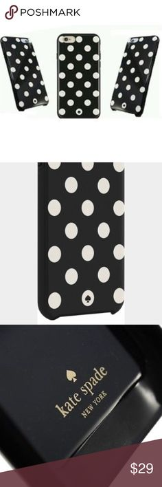 NIB Kate Spade Polka Dot 6 Plus /6s Plus Case Stylishly defend your Apple iPhone 6 Plus or 6s Plus from damage with this kate spade new york hybrid hard shell case, featuring a 2-piece construction for lasting support and shock absorption. A glossy finish keeps your phone looking great. Fits Apple iPhone 6 Plus and 6s Plus. To protect and complement your device. 2-piece design. Combines a polycarbonate shell and rubberized bumper for a reliable shield against wear and tear. Glossy finish…