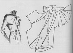 Friday Freebie: Dress Design Draping and Flat Pattern Making - Pattern drafting for a dress with gathered bodice and skirt detail - Techniques Couture, Sewing Techniques, Vintage Sewing Patterns, Clothing Patterns, Sewing Hacks, Sewing Tutorials, Do It Yourself Fashion, Modelista, Couture Sewing