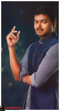 #Vijay New Look  More Stills http://tamilcinema.com/vijay-new-look/