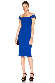 Image 1 of NICHOLAS Curve Panel Dress em Cobalt & Sky