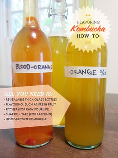 Create '2nd fermentation' by bottling ready kombucha with fruit, ginger, etc. Sit at room temp. for 2-3 days, chill, and enjoy!