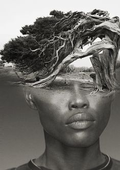 THE TREE, ANTONIO MORA (aka mylovt) ~ a Spanish artist who combines with talent portraits photographed in various landscapes.