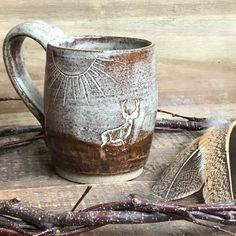 Lots of new in stock pottery being added to the shop each day... including new rustic Wild Buck mugs! Perfect gifts for that camp or cabin, hunter or outdoor lover! ❤️