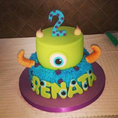 Renata 2nd Birthday Monsters Inc cake