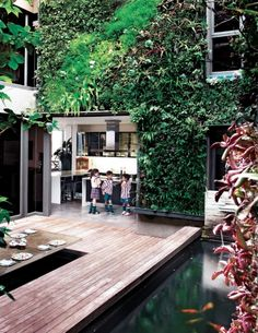how 'bout some leafy vertical gardens? outdoors, indoors, home, corporate, retail........see a bunch of spectacular vertical gardens here!!!! :-)