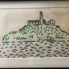 Framed Alcatraz Island kit by @crookedgoose.
