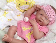 """SWEET Baby Girl!"" Berenguer Life Like Newborn Reborn Pacifier Doll + Extras"