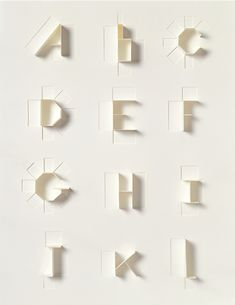 Paper Alphabet #typography #type for Sculpture Today