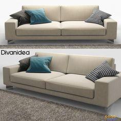 Divanidea-Sofa Wall Clock 3d Model, Luxury Sofa, Sofa Tables, Modern Sofa, Sofa Furniture, Sofa Set, Sofa Design, House Design, Couch