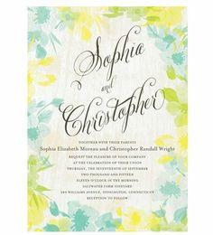 REVEL: Watercolor Wedding Invitation