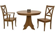 Weston Split Pedestal Table. Available in darker stains, perhaps walnut.