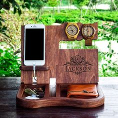 Wood Docking StationCell Phone StandCell Phone HolderCell Phone StationCell - Iphone Stand For Desk - Ideas of Iphone Stand For Desk - Wood Docking StationCell Phone StandCell Phone HolderCell Phone StationCell Phone HolderPhone S