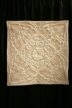 beautiful shapes...this is hand quilted