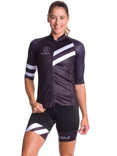 0a778fe18 Coeur Sports Cycling Kit with Zippered Bib Shorts and Aero Jersey - Bike  Clothes Women s Cycling