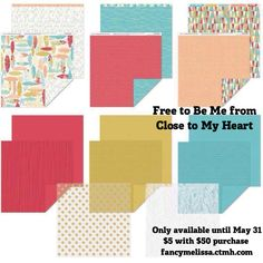 Free to Be Me Paper Collection www.fancymelissa.com/blog #ctmh #nsm #feathers #arrows #goldpolkadot #scrapbook