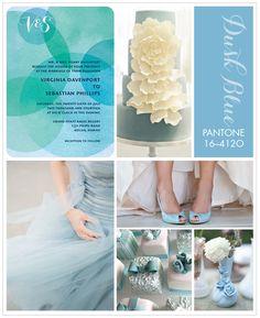 Pantone Dusk Blue Inspiration Board
