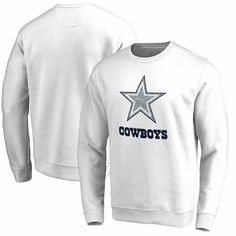 b4b2cac8f Men s Dallas Cowboys NFL Pro Line by Fanatics Branded White White Out  Pullover Sweatshirt