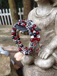 Ohio State Buckeye Bling three wrap memory wire by DFInspirations, $40.00