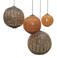 Ruby Rattan Light Fixture  Next door proj