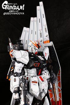 Neo Grade Nu Gundam - Customized Build Modeled by Seoyahooya Frame Arms, Custom Gundam, Anime Dolls, Gundam Model, Mobile Suit, Plastic Models, Grade 1, Transformers, Science Fiction